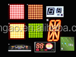 China Colorful Customized 7 Segment LED Display for Car Usage