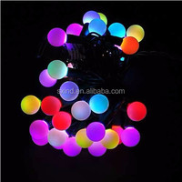100pcs/lot wholesale 10m 100 bulbs colour changing LED round ball christmas fairy lights
