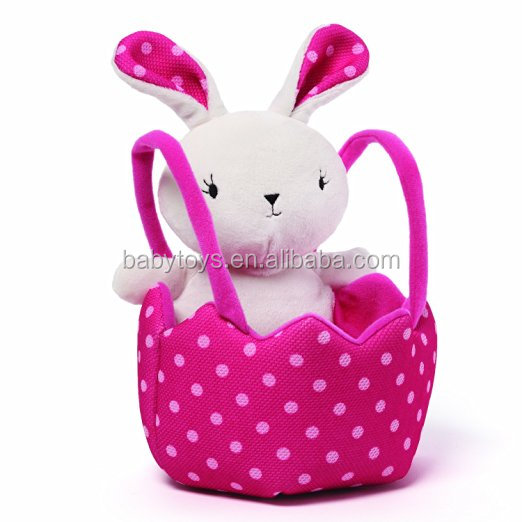 Cute Bunny and Basket Toy Plush