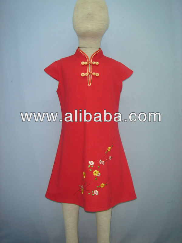 Chinese style girl's dress SP830
