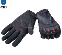 Breathable Synthetic leather Plastic Protector leather motorcycle gloves