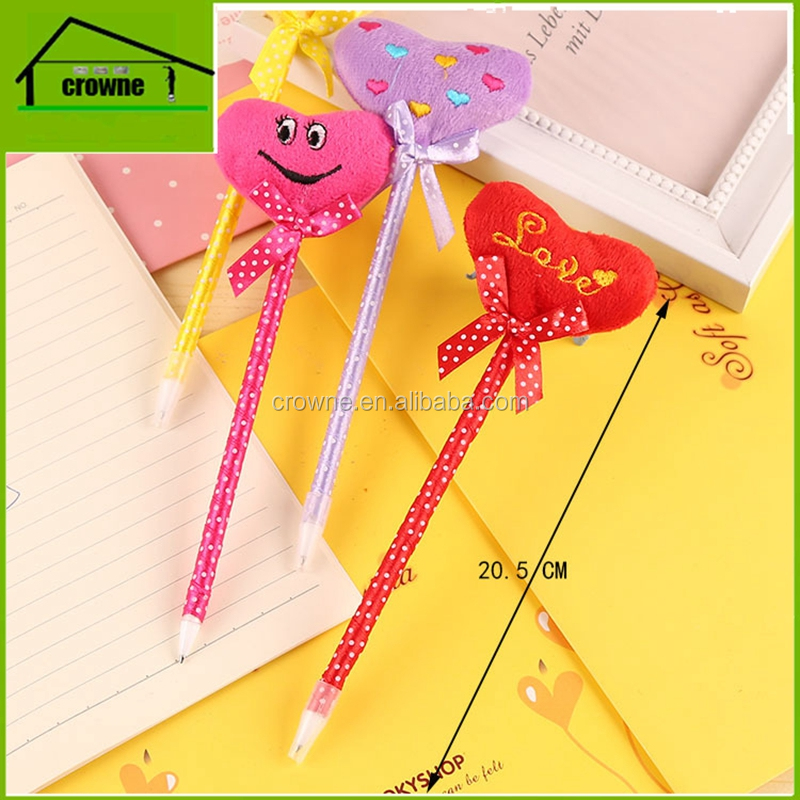 Cartoon heart modeling ball pen creative pen Korea stationery supplies