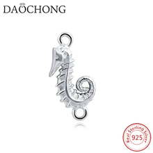 factory cheap wholesale 925 sterling silver sea horse animal charm pendant