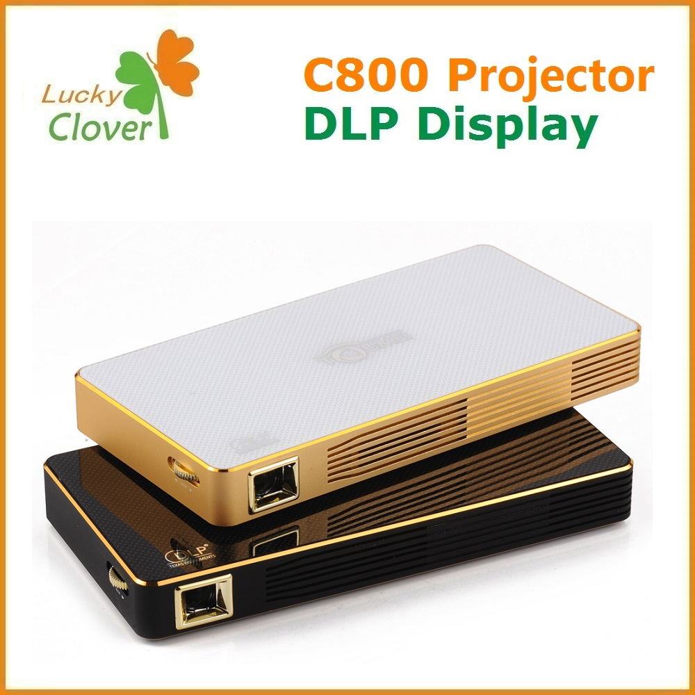 Quality Assurance 2016 Latest Projector Mobile Phone Home Theater C800 Android 4.4 Mini Projector