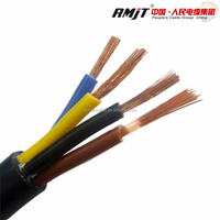 China manufacturer 60227 IEC(RVV) pvc insulation and pvc sheath 4 core flex cable