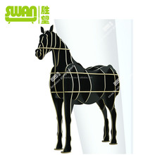 3005 horse coffee table wood tile