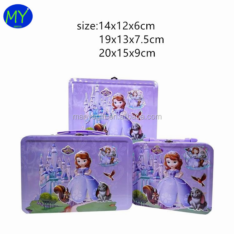 Best quality promotional lunch tin box with plastics handle for packaging storage alibaba supplier