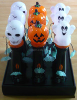 Halloween Kids Plastic LED Flashing Light Toy pumpkin skull heads ghost led lights toy wholesale