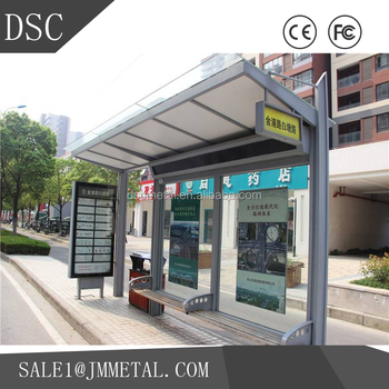 high quality & best price customizable uv-protection bus station shelter