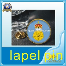Wholesale Small badge Printed With Epoxy metal pin badge Lapel Pin