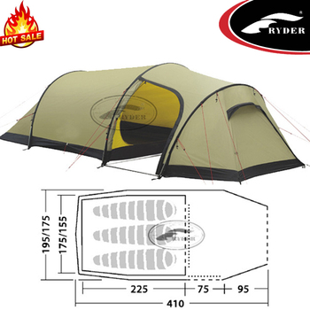Best Outdoor 3 Person Two Layer 4 season Waterproof Winter Backpacking Tunnel Camping Tents for Sales