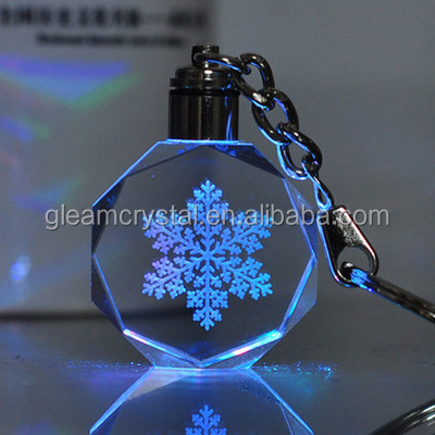 Creative crystal key chain diy custom logo Crystal Glass Keychain