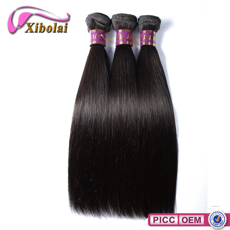 XBL hair Factory price 6A grade silky straight good weaving human hair