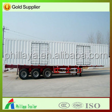Factory Price 2/3 Axle Van/Box Cargo Trailer For Textile Goods Transportation