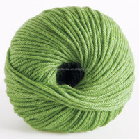 2014 Best selling fancy merino wool blended silk ball yarn with fresh cut grass color