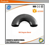 Carbon Steel Butt Weld Pipe Fitting S/R 180 Elbow