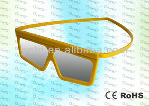 Colourful low price plastic 3d glasses fit for RealD, Master Image 3D Cinemas -- CP297G06