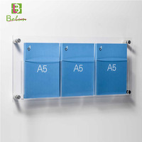 First choice designer latest fashion professional wall mounted small acrylic display stands open nice looking rack book shelf