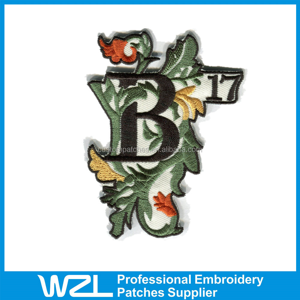 Custom Embroidered Patches iron on embroidery flower patches