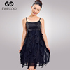 New design fashion ladies black sleeveless sexy night dress for women casual dress