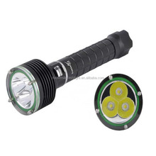 LustFire DV06 3xCREE XM-L2 3600 Lumens Magnetron Electrodeless LED Deep Diving Flashlight(2x18650)