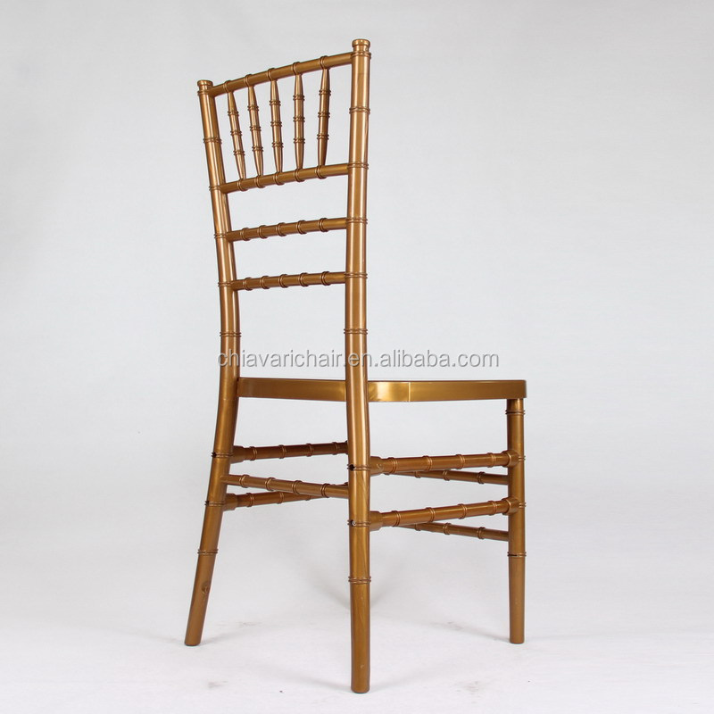gold color pp chiavari chair