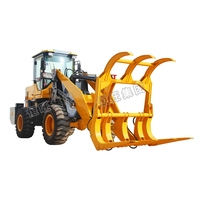 Farm Tractor With Woods Front End Loader/Wheel Sugarcane Loader With Log Grasper