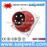 2014 IP44 CEE/IEC International Standard 3P+N+E(5P) electrical floor sockets