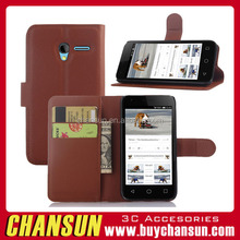 Wholesale price wallet phone case for alcatel one touch pixi 3(4.5) ot-4027n