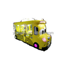 6players school bus design 7inch cranes claw coin operated game machine with exchange money function