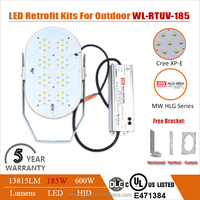 Grey 185w retrofit led shoe box light, 185w led retrofit kit , 185w led flood light retrofit kit