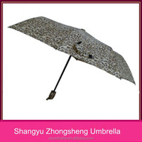 standard size black metal frame auto open 3 fold umbrellas for sale
