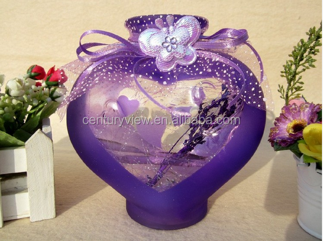 Decoration Fashion Heart Shaped Glass Bottle With Cork For Wishing ...