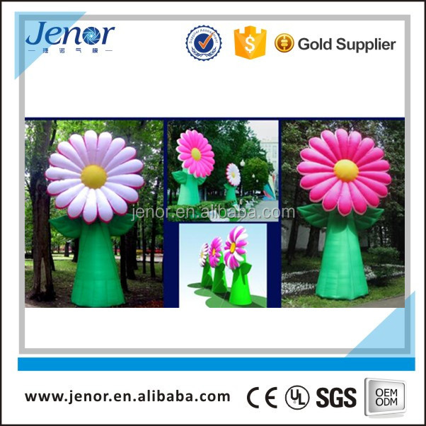 Giant standing purple inflatable flower for event decoration