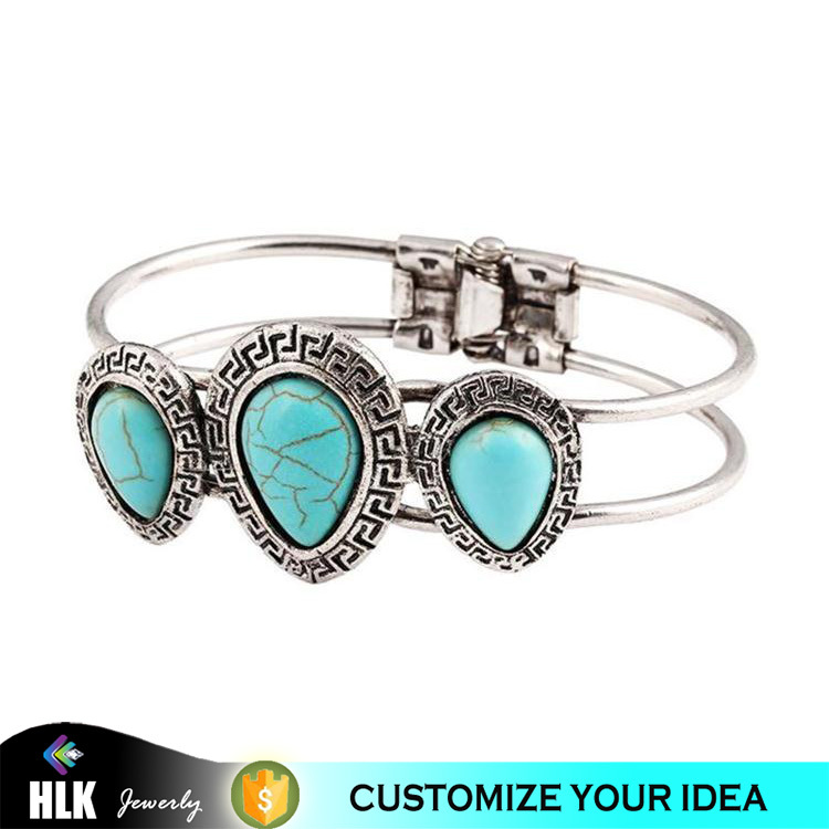 special promotion gift cheap india fashion jewelry blue turquoise bangle