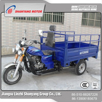 Chinese cargo three wheel covered motocycle trikes used cargo crane truck
