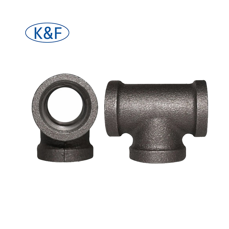 1/2'' Equal Tee Threaded Blackmalleable iron pipe <strong>fitting</strong> for Decoration