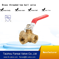 "USA eco-friendly no lead brass forged 1/2"" cock gas tee ball valve"