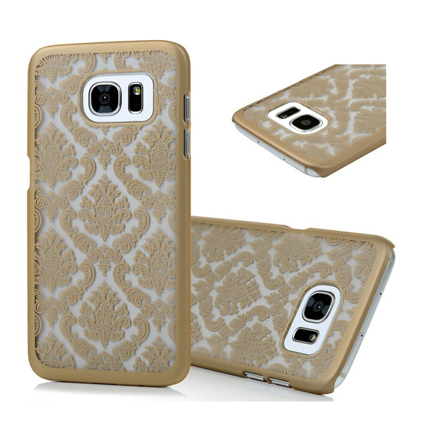 C&T Gold Damask Design Pattern Rubber Coating Slim Hard PC Case Cover for Samsung Galaxy S7