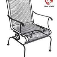 Wrought Iron High Back Motion Chair