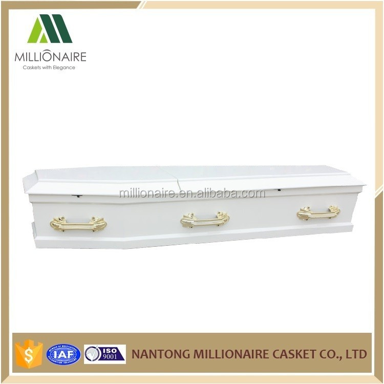 Pure white european coffins