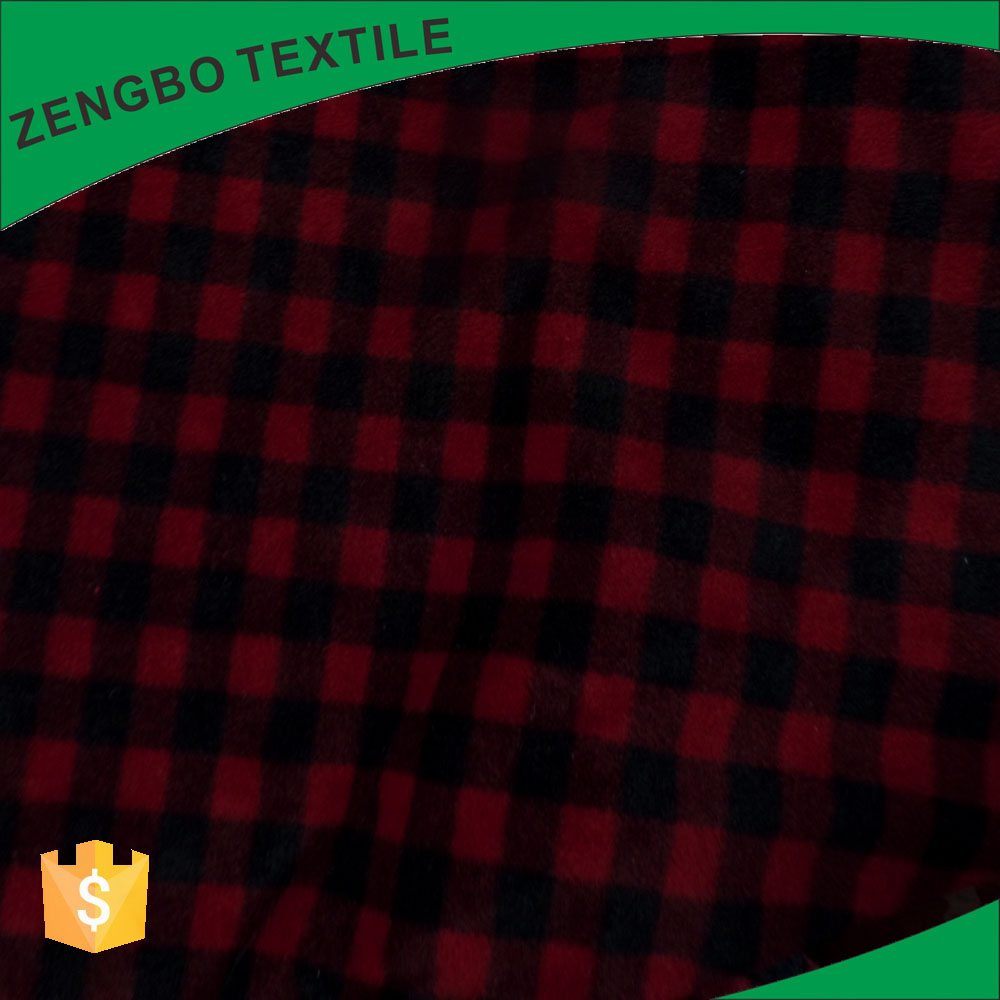 Buy polyester tricot warp knitted polar fleece fabric from China