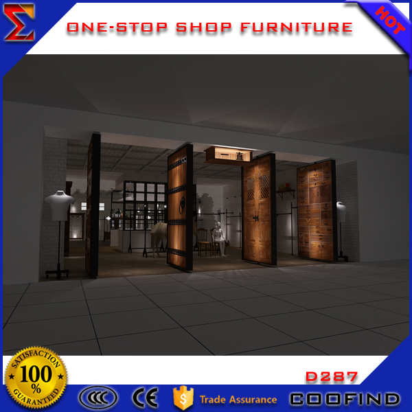 garment store garment furniture store fixtures for decoration 2017