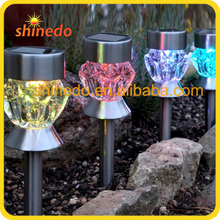 new design stainless steel colourful solar garden light