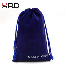 Promotional high quality new fashion design jewelry flannel velour bag