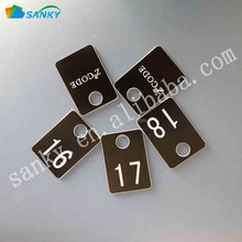Plastic ABS Engraved Club Storage Cabinet Tag