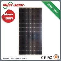 High Efficiency +/-3% Mono 150w Solar Panel Battery for Home Use