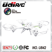 UDIRC U842 2.4Ghz 4 channel HD video camera drone helicopter big aircraft toys