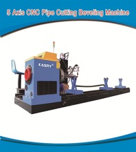 Carbon Steel Pipe Plasma Cutting Metal Fabrication Machine With Fume Extraction System