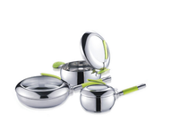 6pcs hot sale stainless steel household cooker electrical material china cookware sets